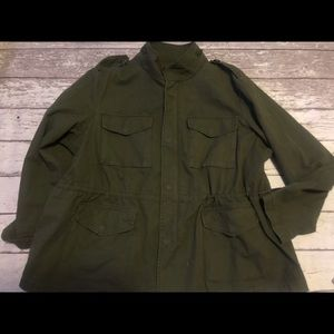 Lane Bryant Army Green Field Jacket Size 20